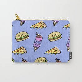 Fast Food Cuties (Blue) Carry-All Pouch