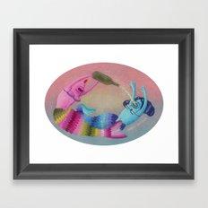 drunken mermaids Framed Art Print