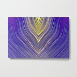 stripes wave pattern 3 ls Metal Print