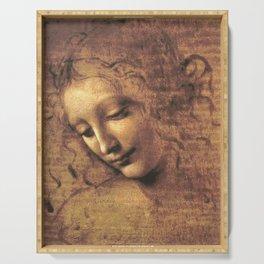 Head of a Woman - Leonardo Da Vinci Serving Tray