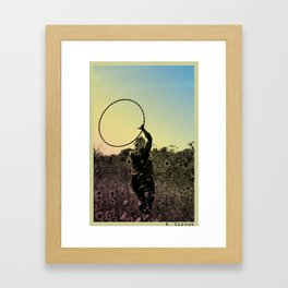 hula Framed Art Print