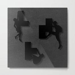 Block Climber Metal Print