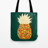 pineapple Tote Bags featuring Pineapple by Picomodi