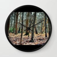 poetry Wall Clocks featuring ...poetry... by Astrid Ewing