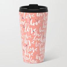Love Script Travel Mug