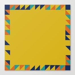 Geometric Square Border Pattern Canvas Print