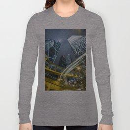 Hong Kong Night City Long Sleeve T-shirt