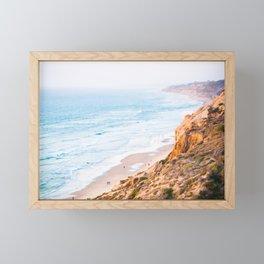 Cliffs at Torrey Pines Reserve Fine Art Print Framed Mini Art Print