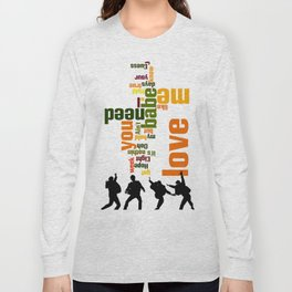 Song typography. All you need is love. Long Sleeve T-shirt