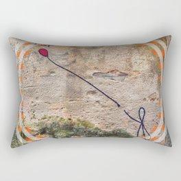 Lost - orange graphic Rectangular Pillow