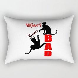 Cheeky Cats in Action Grrrrr Rectangular Pillow