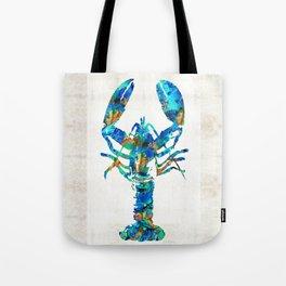 Blue Lobster Art by Sharon Cummings Tote Bag