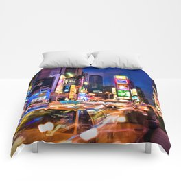 You Will Never Forget: Times Square, New York City Comforters