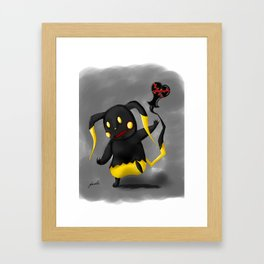 Heartless Pika Framed Art Print