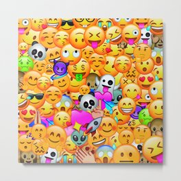 I love Emojis Metal Print