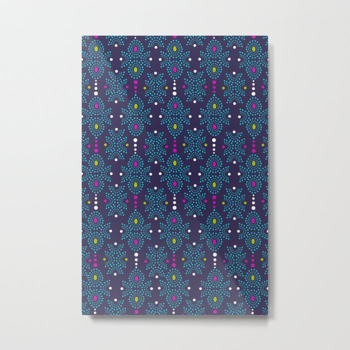 Stella Pattern Metal Print