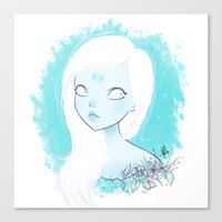 cancer Canvas Prints featuring CANCER ♋ by ⋆ cla ⋆
