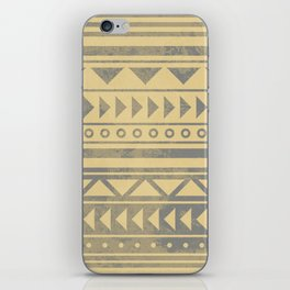 Ethnic geometric pattern with triangles circles and lines iPhone Skin