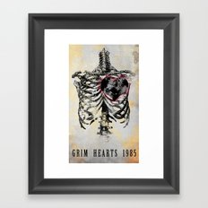 Grim Hearts 1985 Framed Art Print