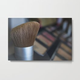 make up brush Metal Print