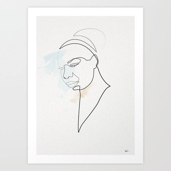 One Line Nina Simone Art Print