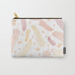 Orange palm tree leaves Carry-All Pouch