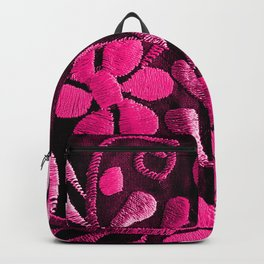 Hot Pink Mexican Flowers Backpack