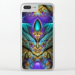 Transcendental - Fractal Manipulation Clear iPhone Case