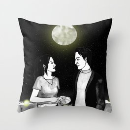 Lounge story Throw Pillow