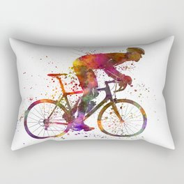 cyclist road bicycle Rectangular Pillow