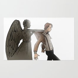[ Doctor Who ] Eleven Matt Smith Weeping Angel Rug