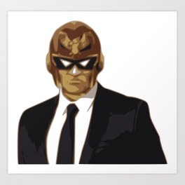 Captain Falcon in Formal Attire Art Print