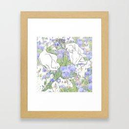 Taurus Spring Vibes Framed Art Print