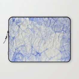 blue crumpled paper Laptop Sleeve