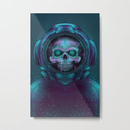 Scuba Skull Metal Print