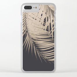 Palm Leaves Sepia Vibes #1 #tropical #decor #art #society6 Clear iPhone Case