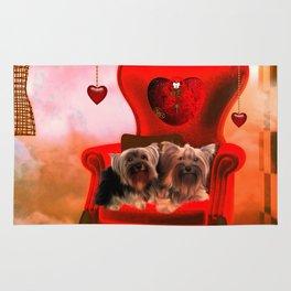 Cute little Yorkshire Terrier Rug