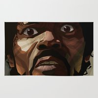 pulp fiction Area & Throw Rugs featuring Pulp Fiction - Jules Winnfield by Diego Pardo