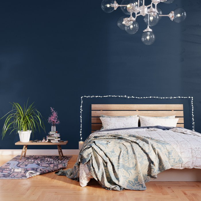 Dark Blue Modern Print Wall Art