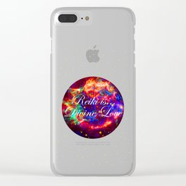 Reiki is Divine Love | The Energy it Flows | Going with the Flow Clear iPhone Case