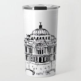 Palacio de Bellas Artes. Vista frontal.  Travel Mug