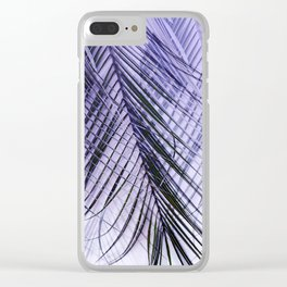 Palm Leaves On A Violet Background #decor #society6 #buyart Clear iPhone Case