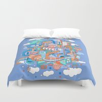 kpop Duvet Covers featuring George's place by Polkip
