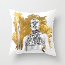 Okoye Warrior Woman #Blackpanther #wakanda Throw Pillow