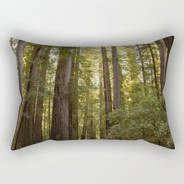 Humboldt Redwoods, Avenue of the Giants, California Photography, Giant Sequoia Trees, Nature, Landscape Art Rectangular Pillow
