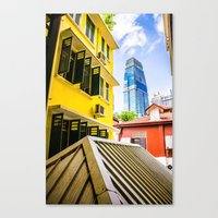 singapore Canvas Prints featuring Singapore by Jiunn