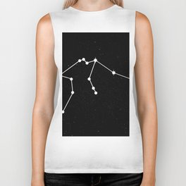 AQUARIUS (BLACK & WHITE) Biker Tank
