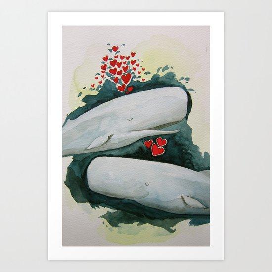 Whale You be My Valentine? Art Print
