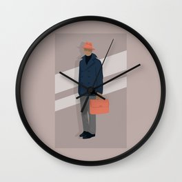 Trilby and Briefcase Wall Clock