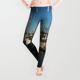 Westport Harbor Scene Leggings